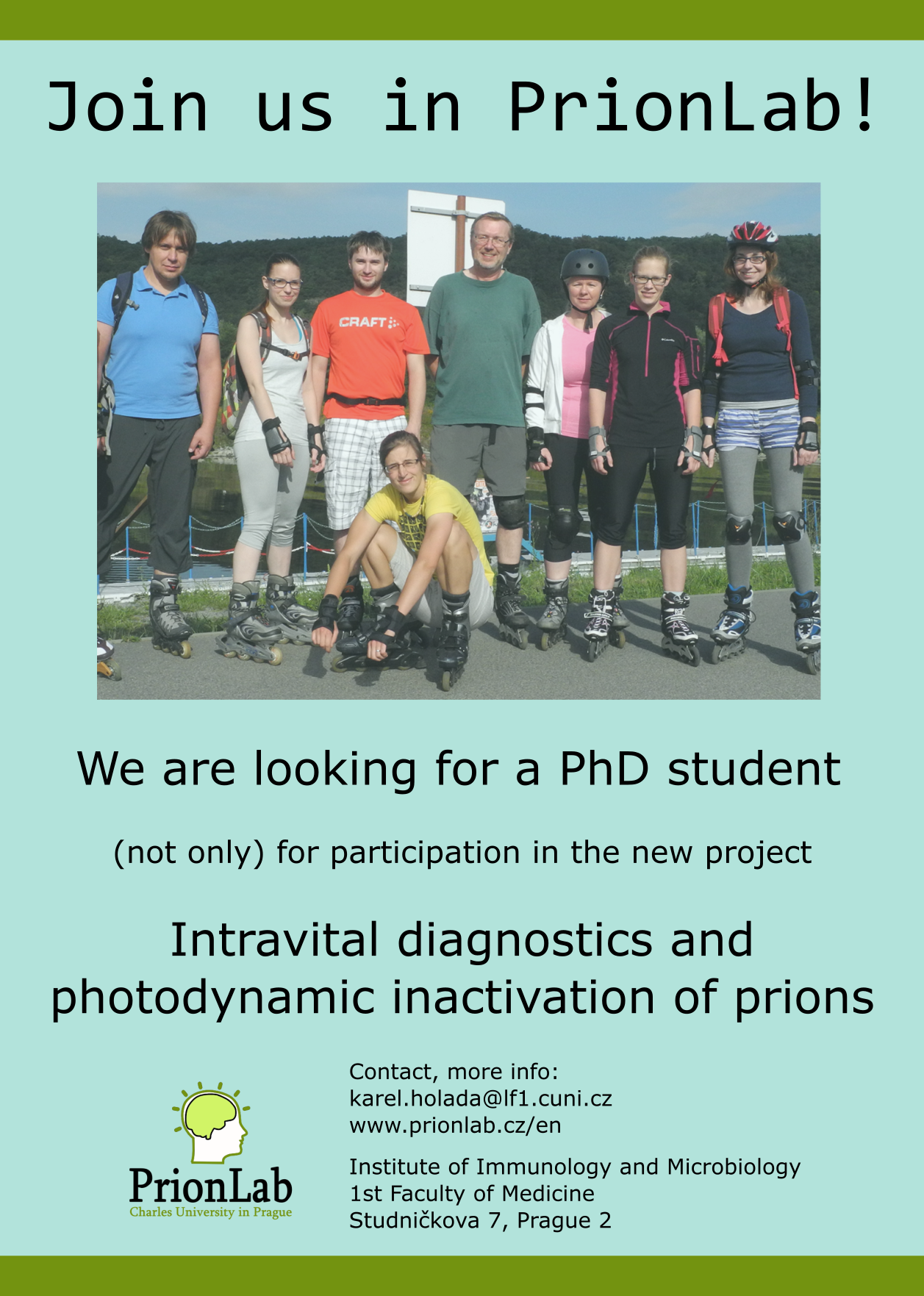 We are looking for a PhD student! Open position: doctoral